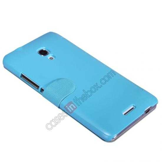 discount NILLKIN Fresh Series Super Slim Leather Mobile Case for HUAWEI MATE 2 - Blue