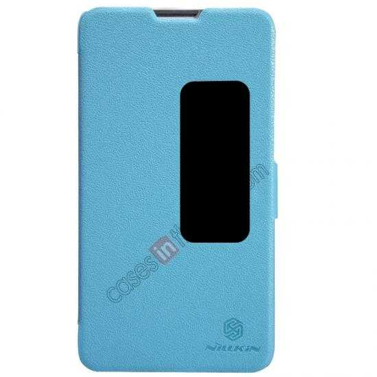 wholesale NILLKIN Fresh Series Super Slim Leather Mobile Case for HUAWEI MATE 2 - Blue