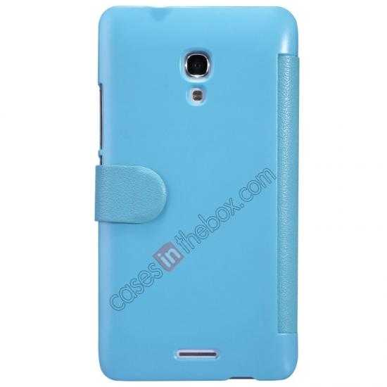 cheap NILLKIN Fresh Series Super Slim Leather Mobile Case for HUAWEI MATE 2 - Blue