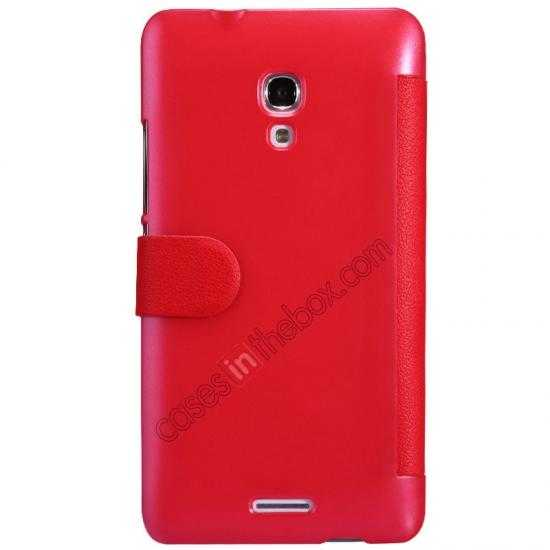 discount NILLKIN Fresh Series Super Slim Leather Mobile Case for HUAWEI MATE 2 - Red