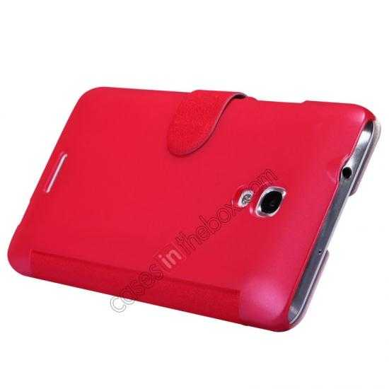 cheap NILLKIN Fresh Series Super Slim Leather Mobile Case for HUAWEI MATE 2 - Red