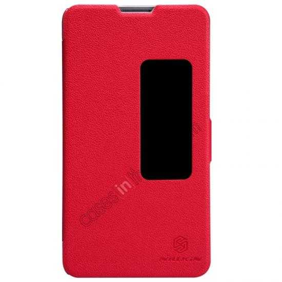 wholesale NILLKIN Fresh Series Super Slim Leather Mobile Case for HUAWEI MATE 2 - Red