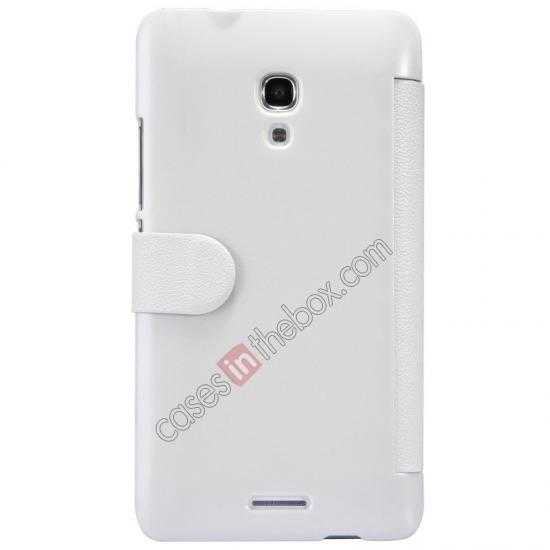 top quality NILLKIN Fresh Series Super Slim Leather Mobile Case for HUAWEI MATE 2 - White
