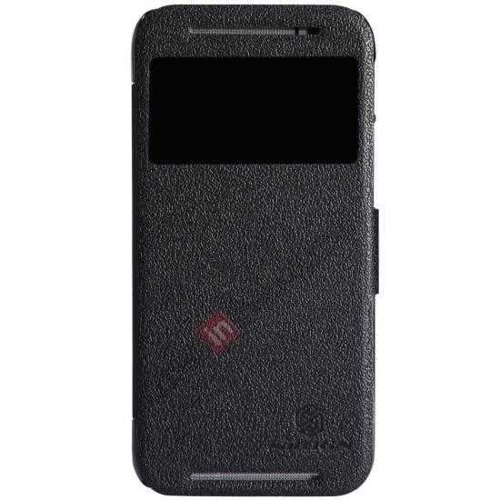 wholesale Nillkin Fresh Series View Window Folio Leather Case for HTC One 2 M8 - Black