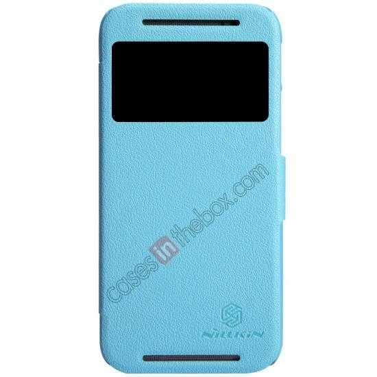 wholesale Nillkin Fresh Series View Window Folio Leather Case for HTC One 2 M8 - Blue