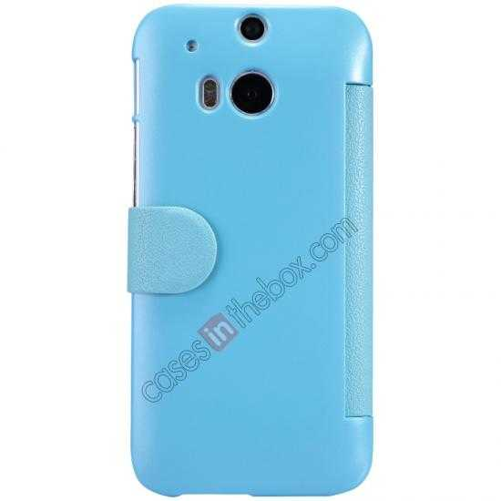 discount Nillkin Fresh Series View Window Folio Leather Case for HTC One 2 M8 - Blue