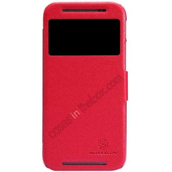wholesale Nillkin Fresh Series View Window Folio Leather Case for HTC One 2 M8 - Red