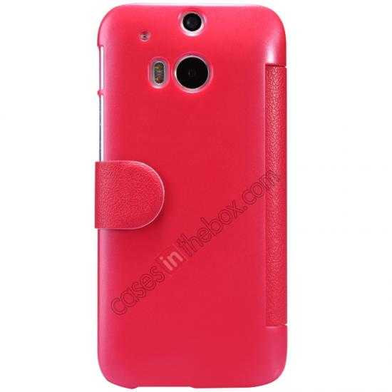 discount Nillkin Fresh Series View Window Folio Leather Case for HTC One 2 M8 - Red