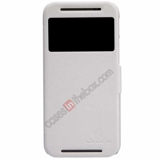 wholesale Nillkin Fresh Series View Window Folio Leather Case for HTC One 2 M8 - White