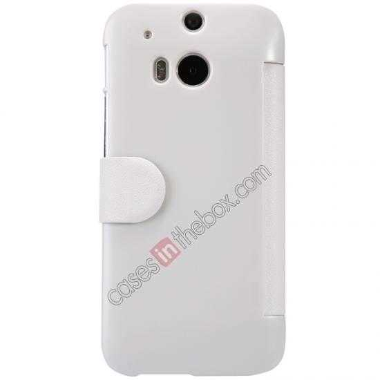 discount Nillkin Fresh Series View Window Folio Leather Case for HTC One 2 M8 - White