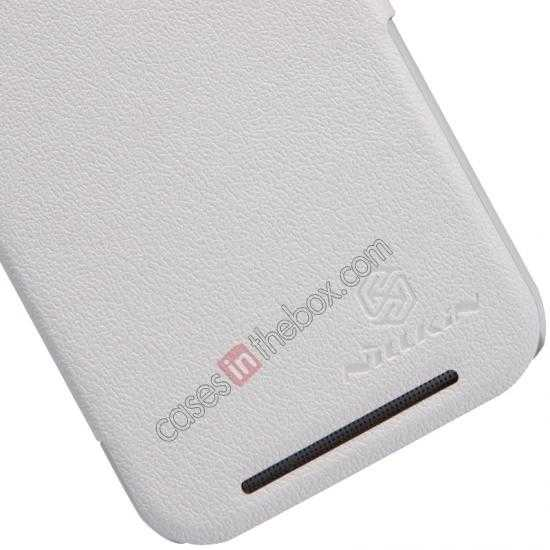 best price Nillkin Fresh Series View Window Folio Leather Case for HTC One 2 M8 - White