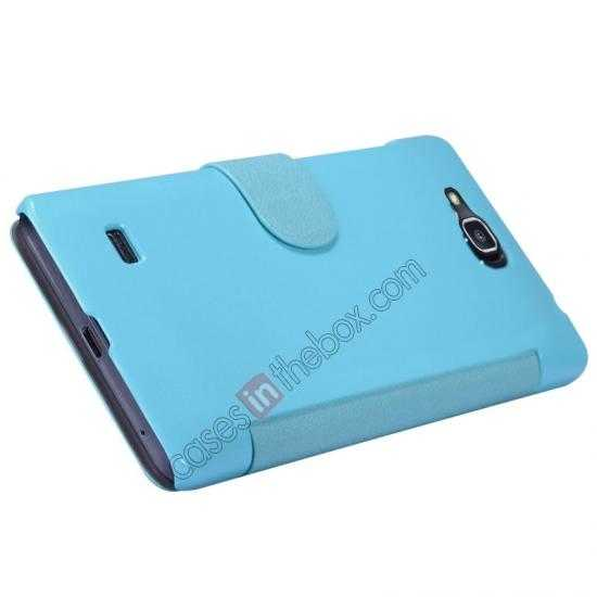 top quality Nillkin Fresh Series View Window Folio Leather Case for HUAWEI C8816 - Blue