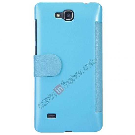 discount Nillkin Fresh Series View Window Folio Leather Case for HUAWEI C8816 - Blue