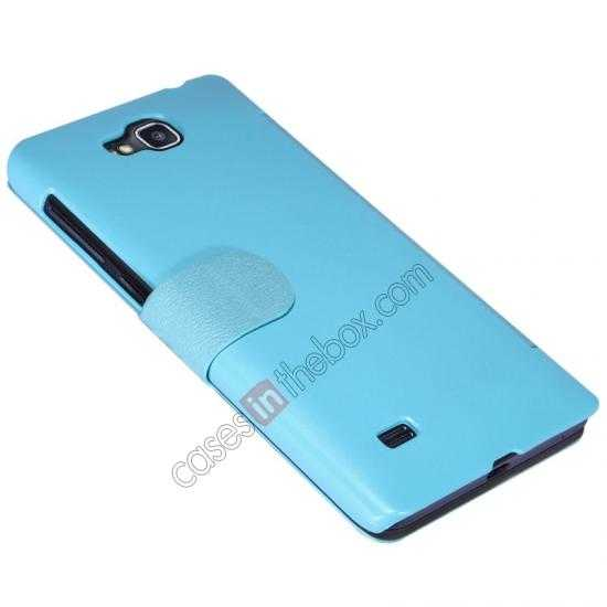 best price Nillkin Fresh Series View Window Folio Leather Case for HUAWEI C8816 - Blue