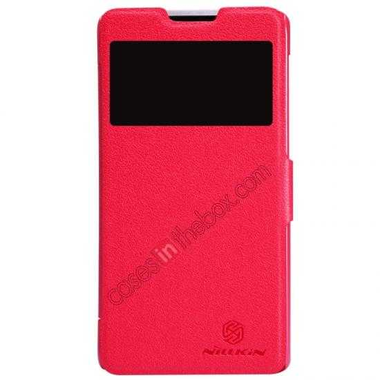 wholesale Nillkin Fresh Series View Window Folio Leather Case for HUAWEI C8816 - Red