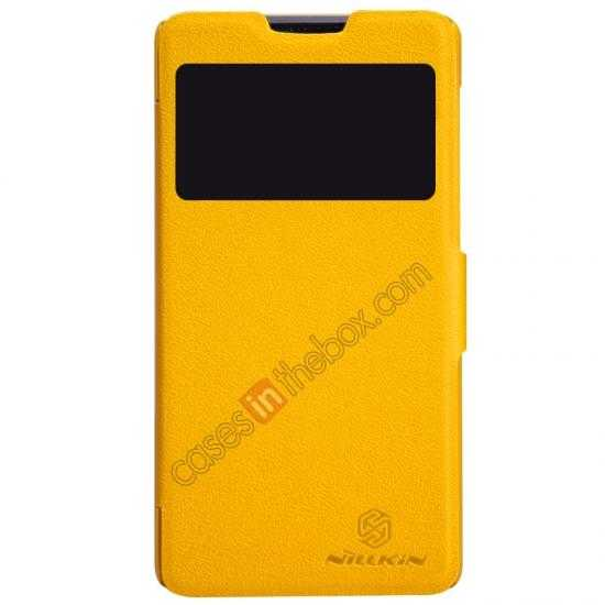 wholesale Nillkin Fresh Series View Window Folio Leather Case for HUAWEI C8816 - Yellow