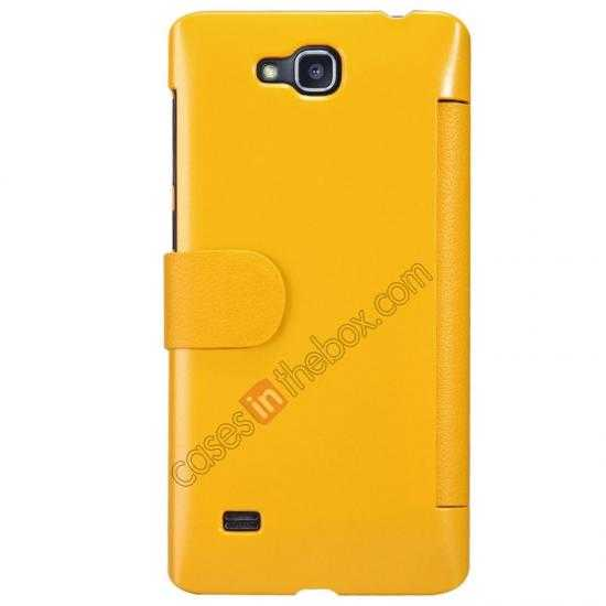 best price Nillkin Fresh Series View Window Folio Leather Case for HUAWEI C8816 - Yellow