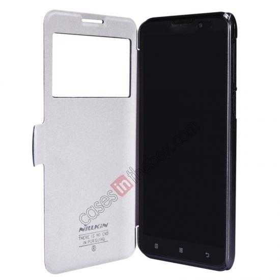 top quality Nillkin Fresh Series View Window Folio Leather Case for Lenovo S939 - Black