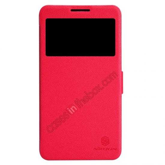 wholesale Nillkin Fresh Series View Window Folio Leather Case for Lenovo S939 - Red