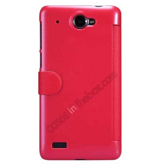 discount Nillkin Fresh Series View Window Folio Leather Case for Lenovo S939 - Red