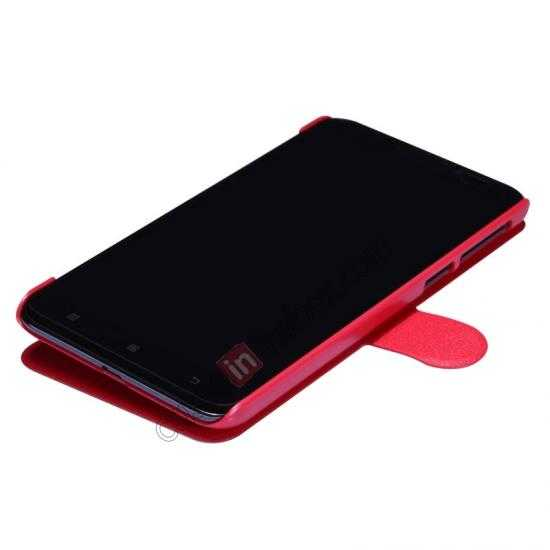 cheap Nillkin Fresh Series View Window Folio Leather Case for Lenovo S939 - Red