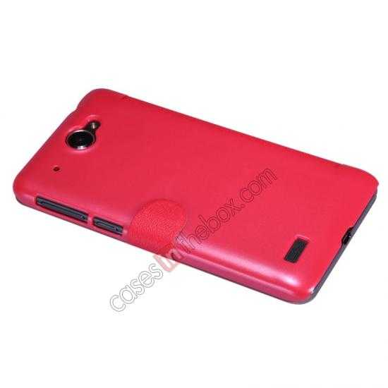 best price Nillkin Fresh Series View Window Folio Leather Case for Lenovo S939 - Red