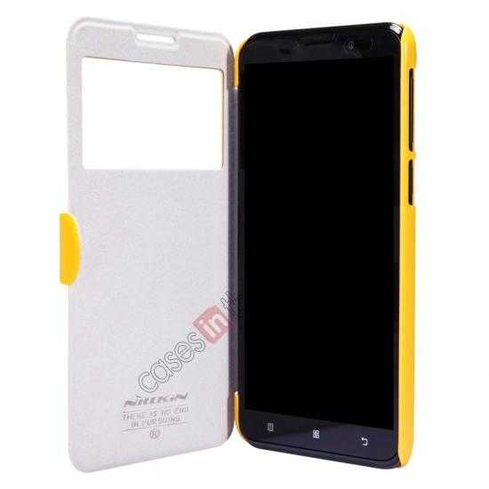 discount Nillkin Fresh Series View Window Folio Leather Case for Lenovo S939 - Yellow