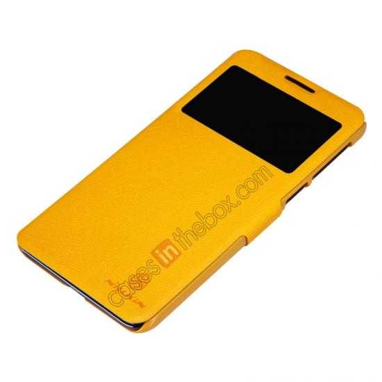 cheap Nillkin Fresh Series View Window Folio Leather Case for Lenovo S939 - Yellow