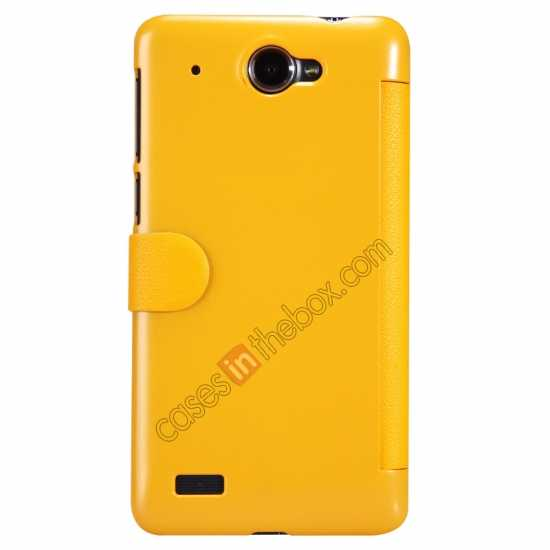 top quality Nillkin Fresh Series View Window Folio Leather Case for Lenovo S939 - Yellow