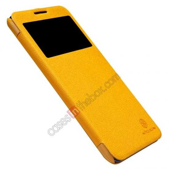 best price Nillkin Fresh Series View Window Folio Leather Case for Lenovo S939 - Yellow