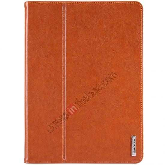 wholesale NILLKIN Meden Leather Flip Stand Case Cover for iPad Air - Brown