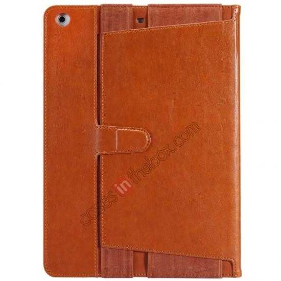 discount NILLKIN Meden Leather Flip Stand Case Cover for iPad Air - Brown