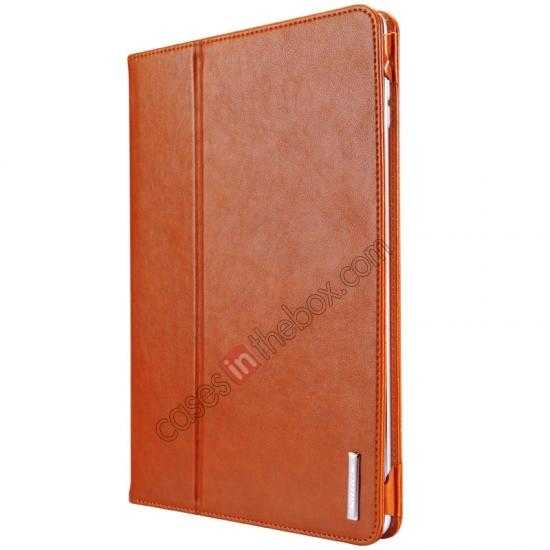 cheap NILLKIN Meden Leather Flip Stand Case Cover for iPad Air - Brown