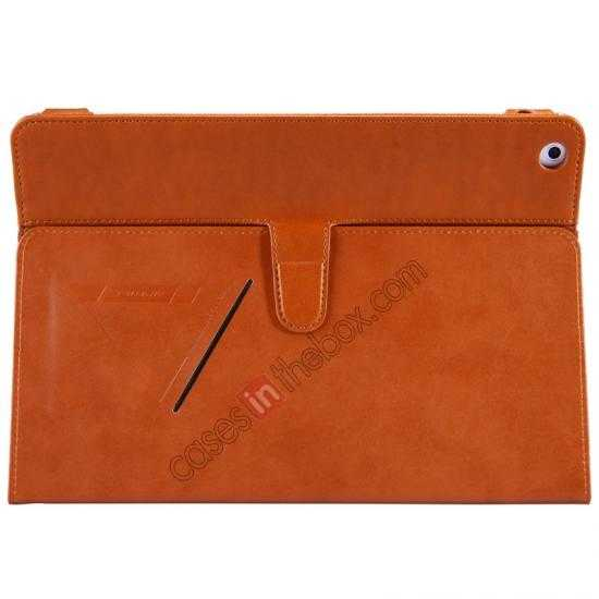 best price NILLKIN Meden Leather Flip Stand Case Cover for iPad Air - Brown