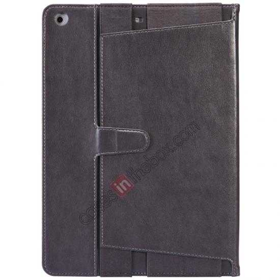 discount NILLKIN Meden Leather Flip Stand Case Cover for iPad Air - Silver Grey