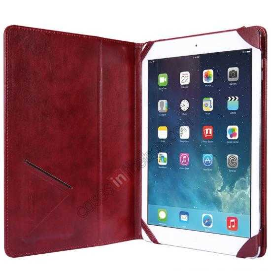 cheap NILLKIN Meden Leather Flip Stand Case Cover for iPad Air - Wine Red