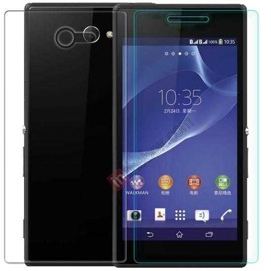 wholesale Nillkin Nano Anti-burst Tempered Glass Screen Film for Sony Xperia M2 S50H