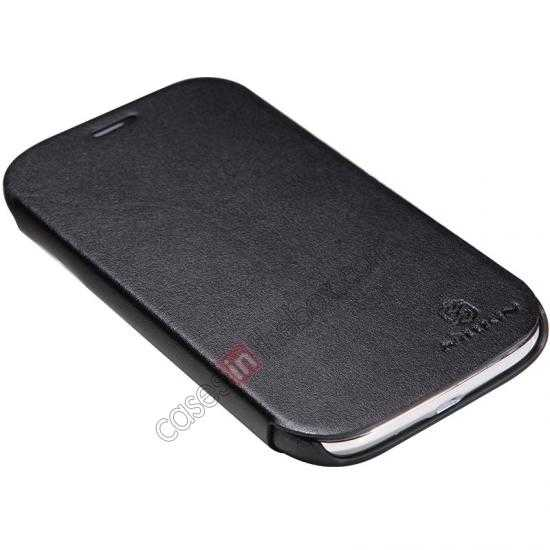 discount Nillkin New Series Stylish Leather Case for Samsung Galaxy Grand Neo I9060 - Black