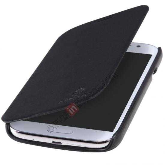 best price Nillkin New Series Stylish Leather Case for Samsung Galaxy Grand Neo I9060 - Black