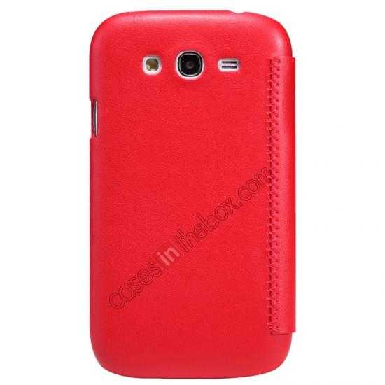 discount Nillkin New Series Stylish Leather Case for Samsung Galaxy Grand Neo I9060 - Red