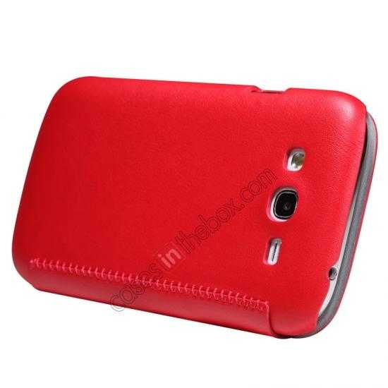 cheap Nillkin New Series Stylish Leather Case for Samsung Galaxy Grand Neo I9060 - Red