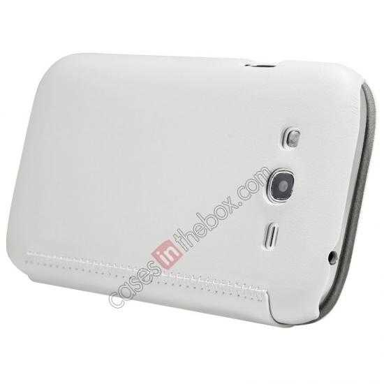 discount Nillkin New Series Stylish Leather Case for Samsung Galaxy Grand Neo I9060 - White