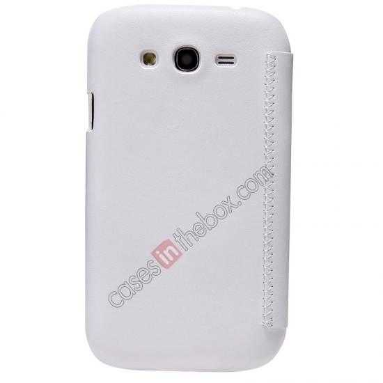best price Nillkin New Series Stylish Leather Case for Samsung Galaxy Grand Neo I9060 - White