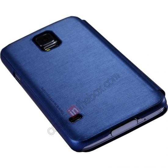 discount Nillkin Rain Series Side Flip Leather Case for Samsung Galaxy S5 - Blue