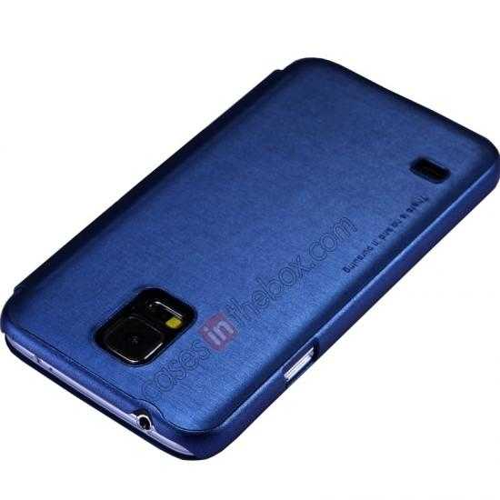 cheap Nillkin Rain Series Side Flip Leather Case for Samsung Galaxy S5 - Blue