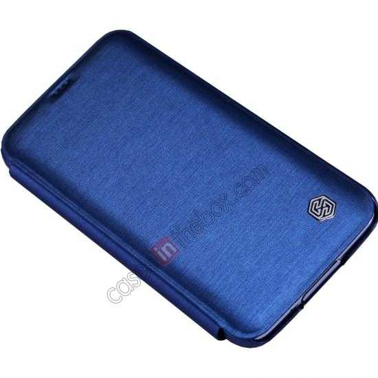 top quality Nillkin Rain Series Side Flip Leather Case for Samsung Galaxy S5 - Blue