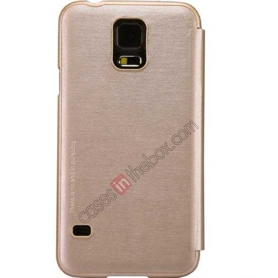 wholesale Nillkin Rain Series Side Flip Leather Case for Samsung Galaxy S5 - Champagne