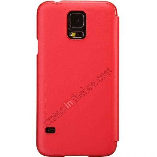 discount Nillkin Rain Series Side Flip Leather Case for Samsung Galaxy S5 - Red