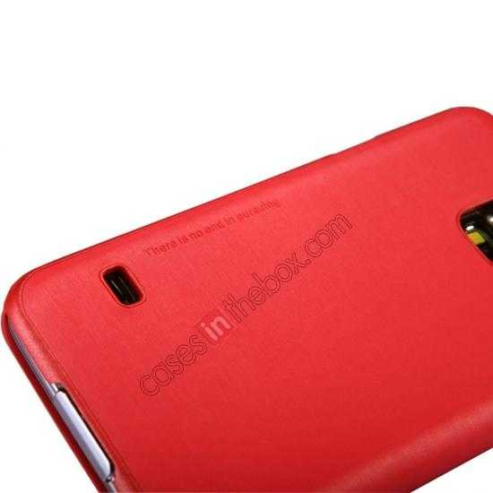 top quality Nillkin Rain Series Side Flip Leather Case for Samsung Galaxy S5 - Red