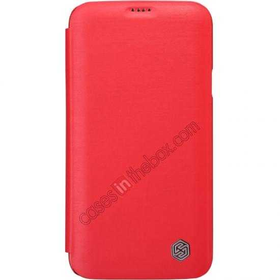 wholesale Nillkin Rain Series Side Flip Leather Case for Samsung Galaxy S5 - Red